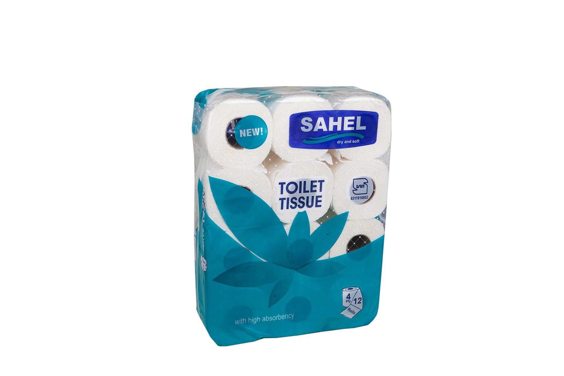 دستمال توالت 12 قلو ساده